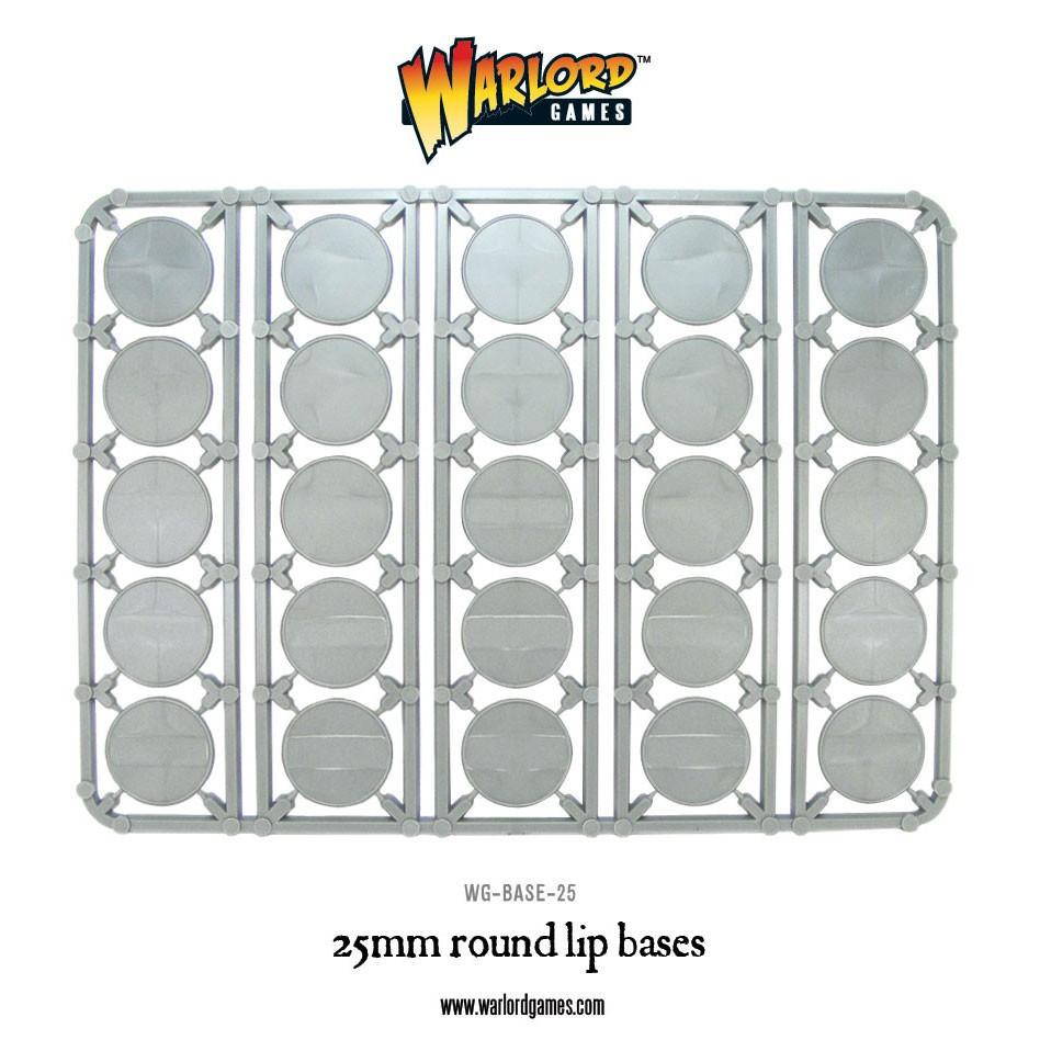 25mm Round Lip Bases (25)