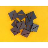 Podstawki 25mm x 25mm slotted diagonal (10)