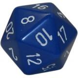 5 x Blue D20 Dice (Frostgrave)