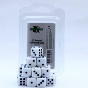 Blackfire Dice - 16mm D6 Dice Set - White (15 Dice)