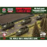M5 Half-track Transport Platoon (Plastic)