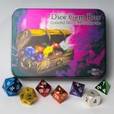 Blackfire Dice - Metal Dice Set - Dice Gem Box (7 Dice)