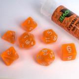 Blackfire Dice - 16mm Role Playing Dice Set - Crystal Orange (7 Dice)
