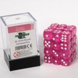 Blackfire Dice Cube - 12mm D6 36 Dice Set - Transparent Rose Red