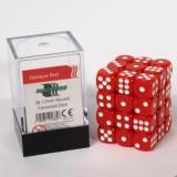 Blackfire Dice Cube - 12mm D6 36 Dice Set - Opaque Red