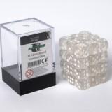 Blackfire Dice Cube - 12mm D6 36 Dice Set - Transparent White