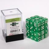 Blackfire Dice Cube - 12mm D6 36 Dice Set - Marbled Light Green