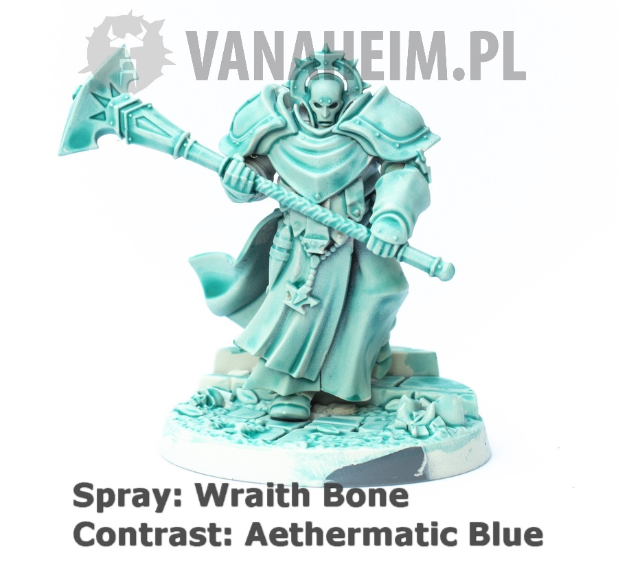Citadel Contrast: Aethermatic Blue on Wraith Bone