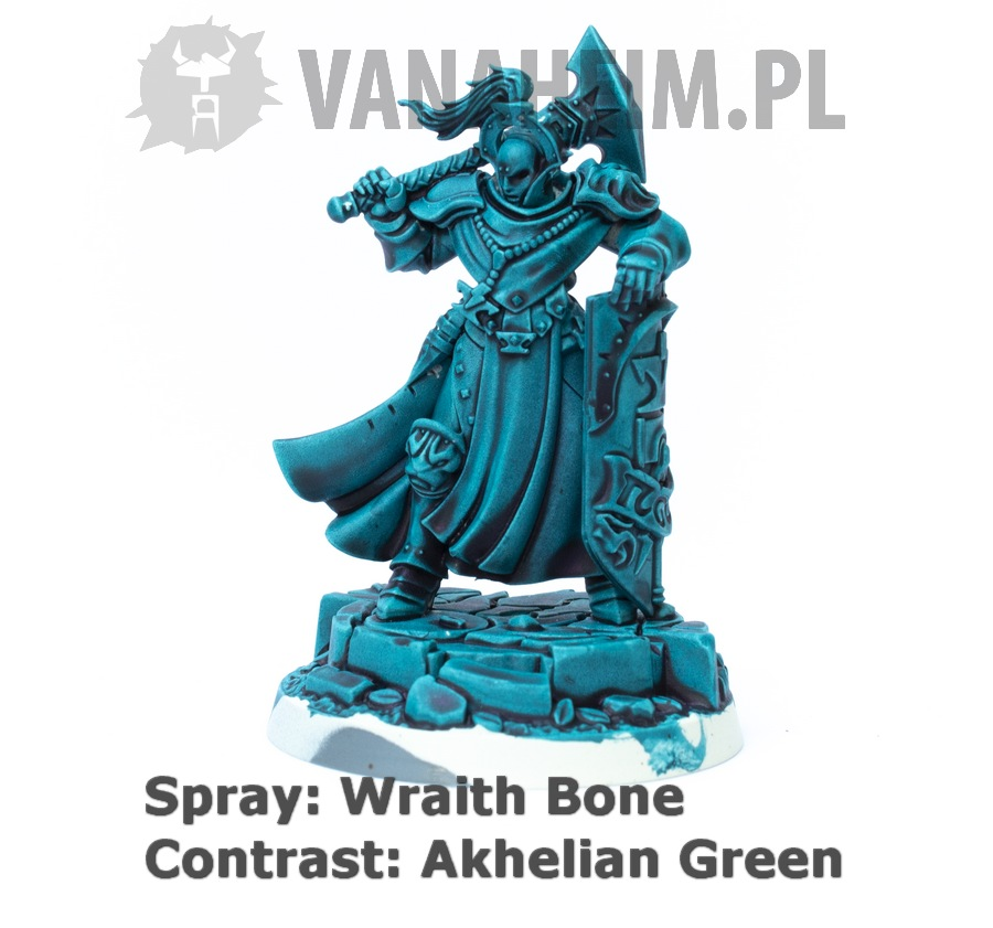 Citadel Contrast: Akhelian Green on Wraith Bone