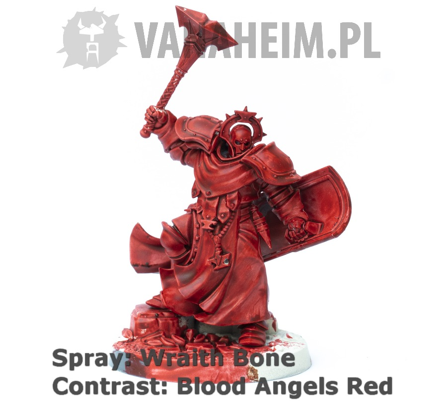 Citadel Contrast: Blood Angels Red on Wraith Bone