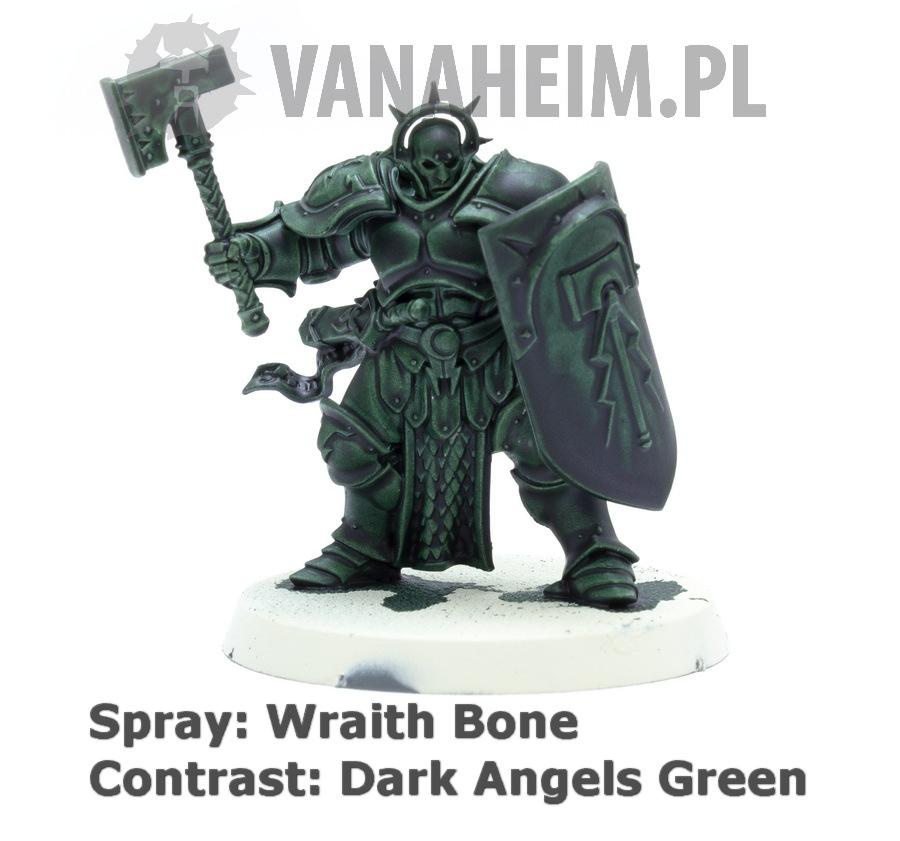 Citadel Contrast: Dark Angels Green on Wraith Bone