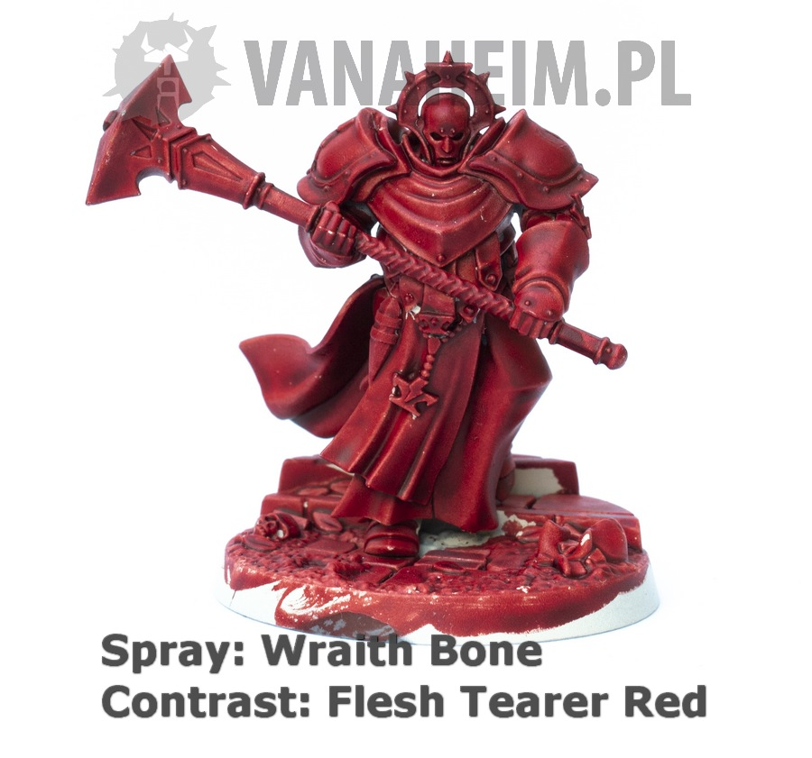Citadel Contrast: Flesh Tearers Red on Wraith Bone