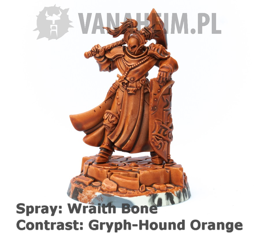 Citadel Contrast: Gryph-Hound Orange on Wraith Bone
