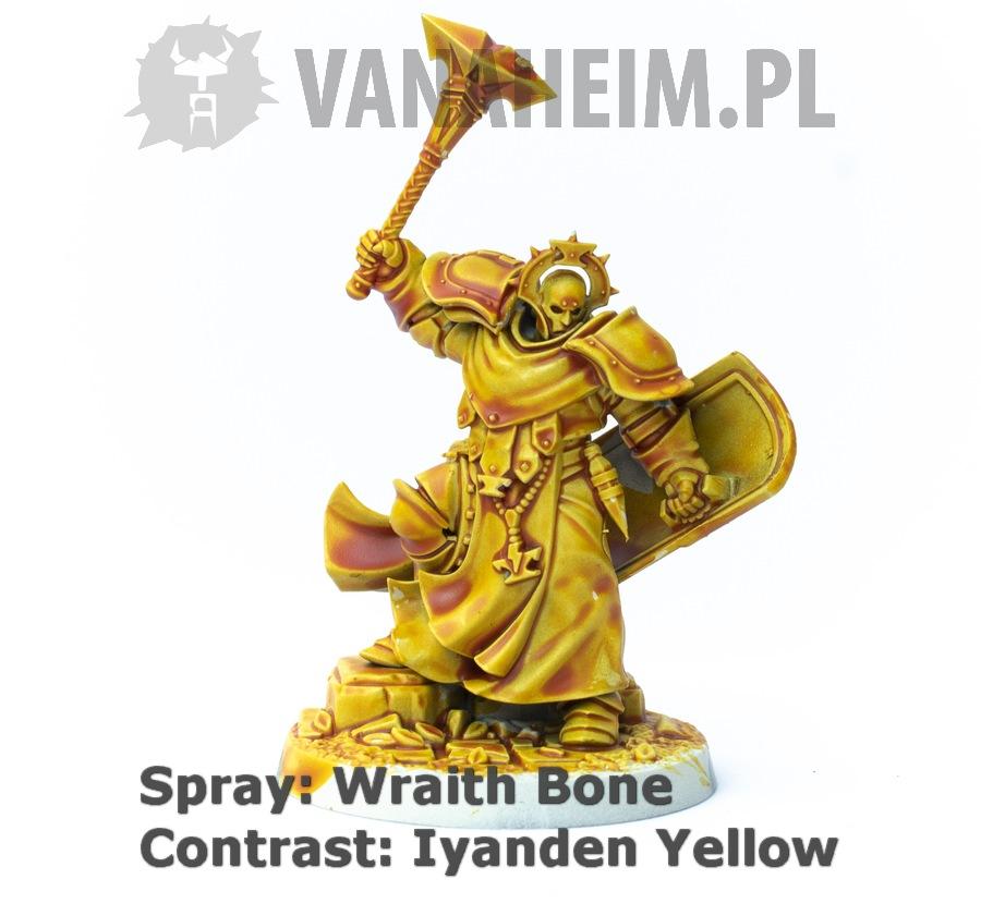 Citadel Contrast: Iyanden Yellow on Wraith Bone