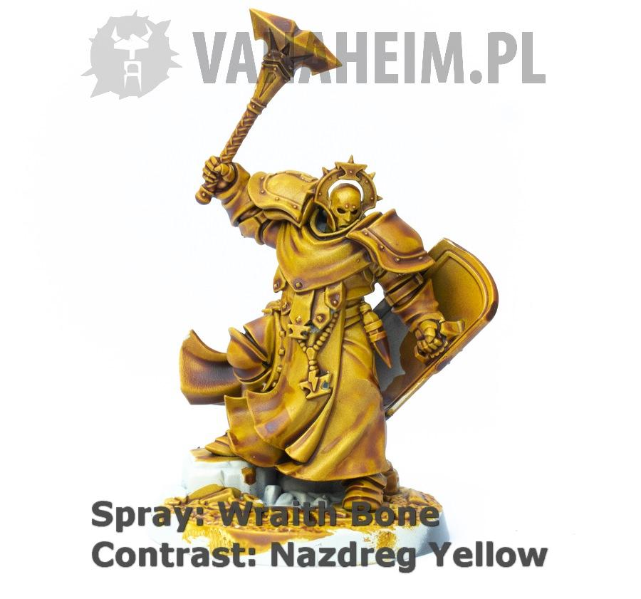 Citadel Contrast: Nazdreg Yellow on Wraith Bone