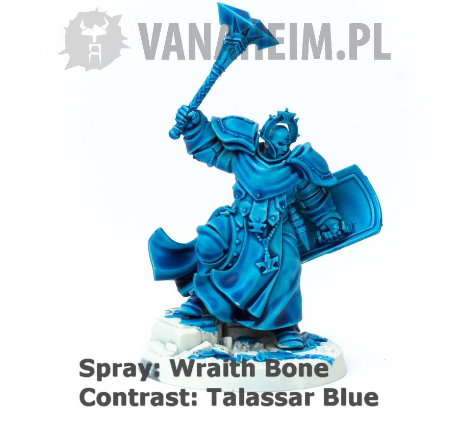 Citadel Contrast: Talassar Blue on Wraith Bone