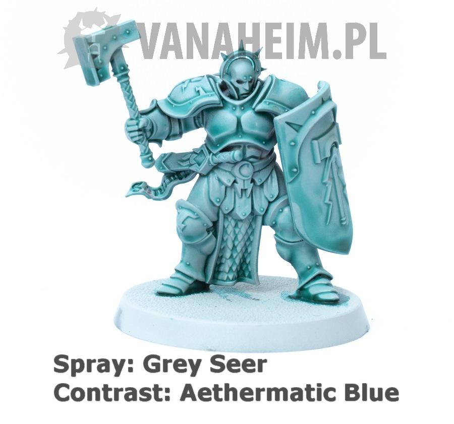 Citadel Contrast: Aethermatic Blue on Grey Seer
