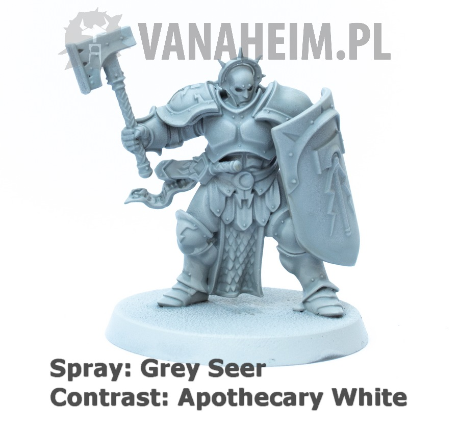 Citadel Contrast: Apothecary White on Grey Seer