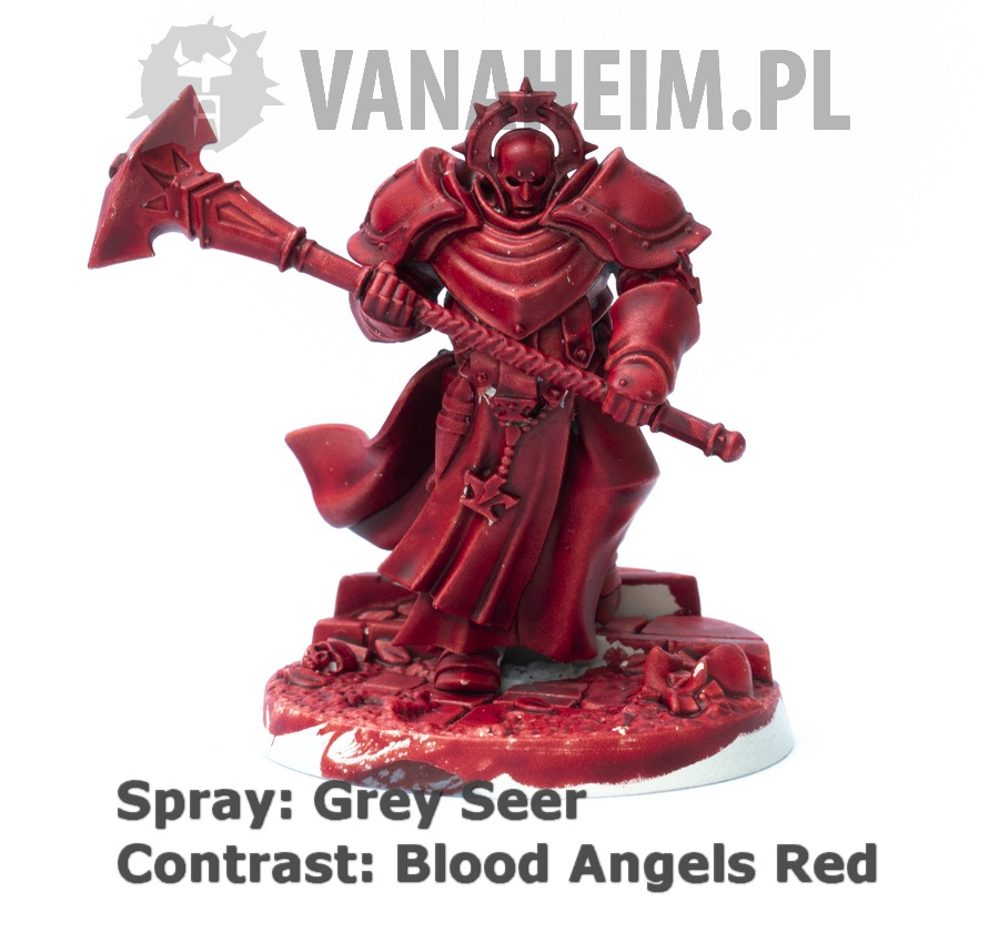 Citadel Contrast: Blood Angels Red on Grey Seer