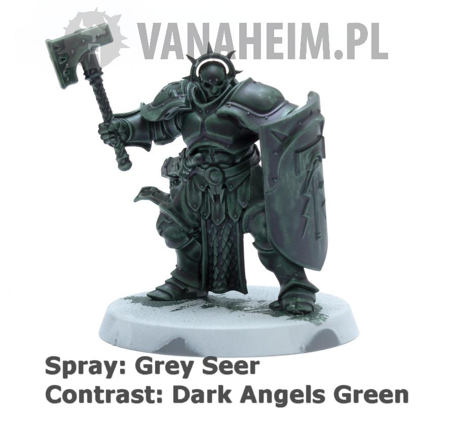 Citadel Contrast: Dark Angels Green on Grey Seer