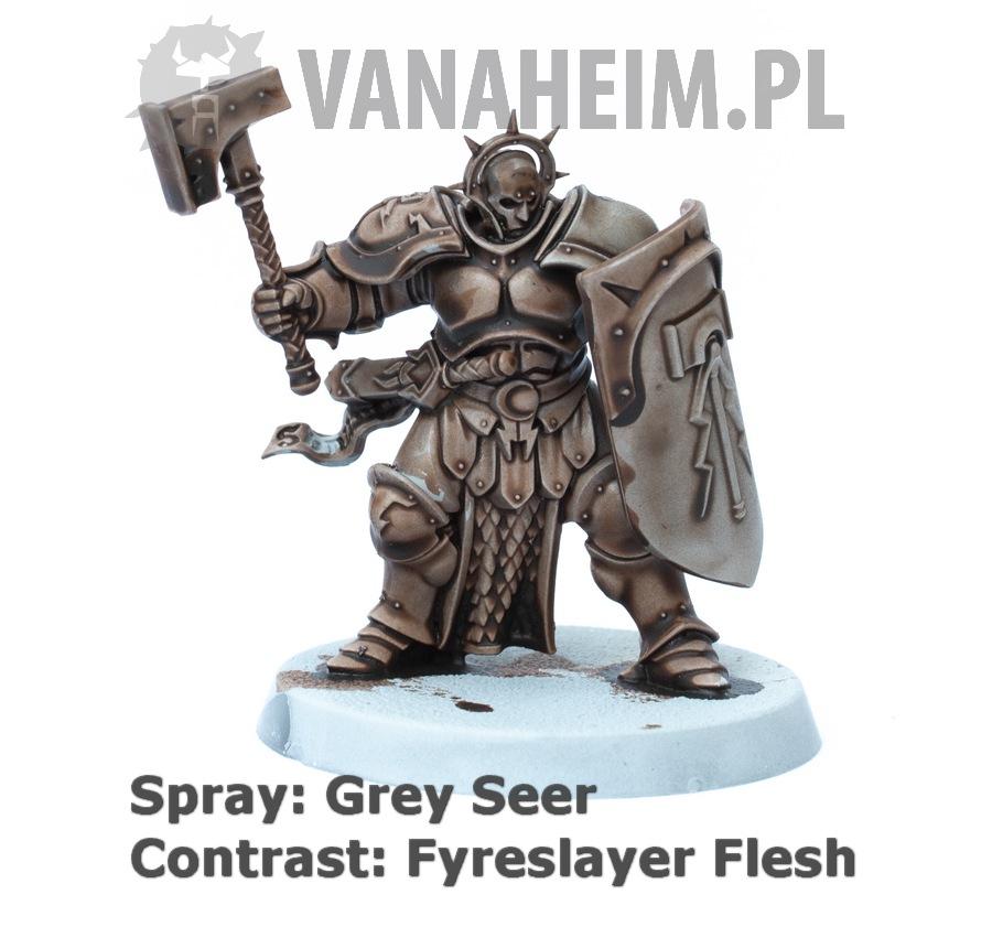 Citadel Contrast: Fyreslayer Flesh on Grey Seer