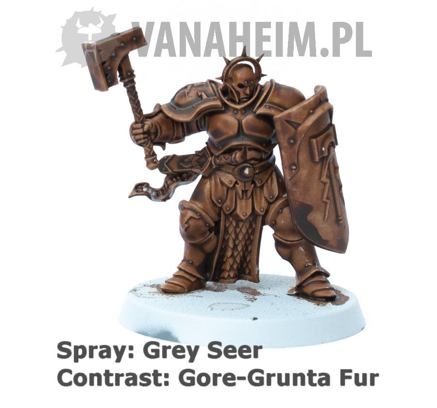 Citadel Contrast: Gore-Grunta Fur on Grey Seer