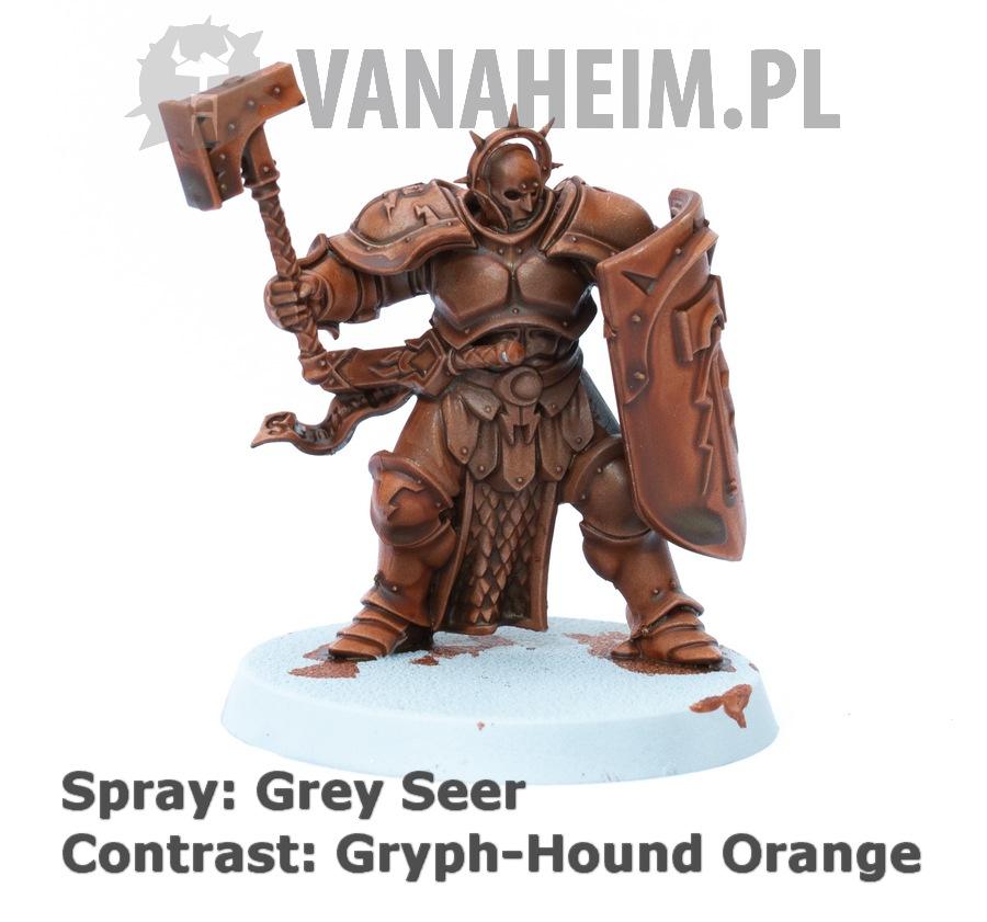 Citadel Contrast: Gryph-Hound Orange on Grey Seer