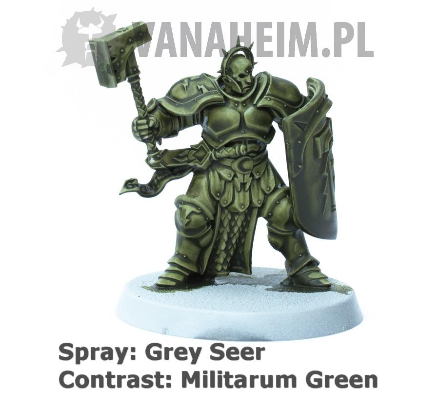 Citadel Contrast: Militarum Green on Grey Seer