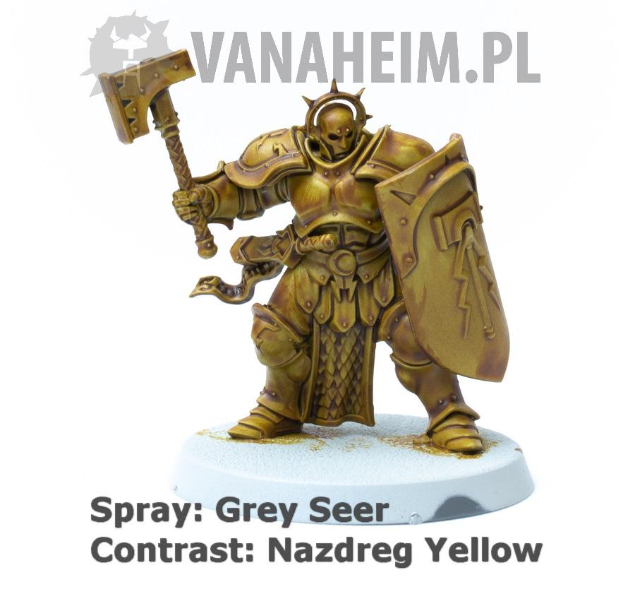 Citadel Contrast: Nazdreg Yellow on Grey Seer