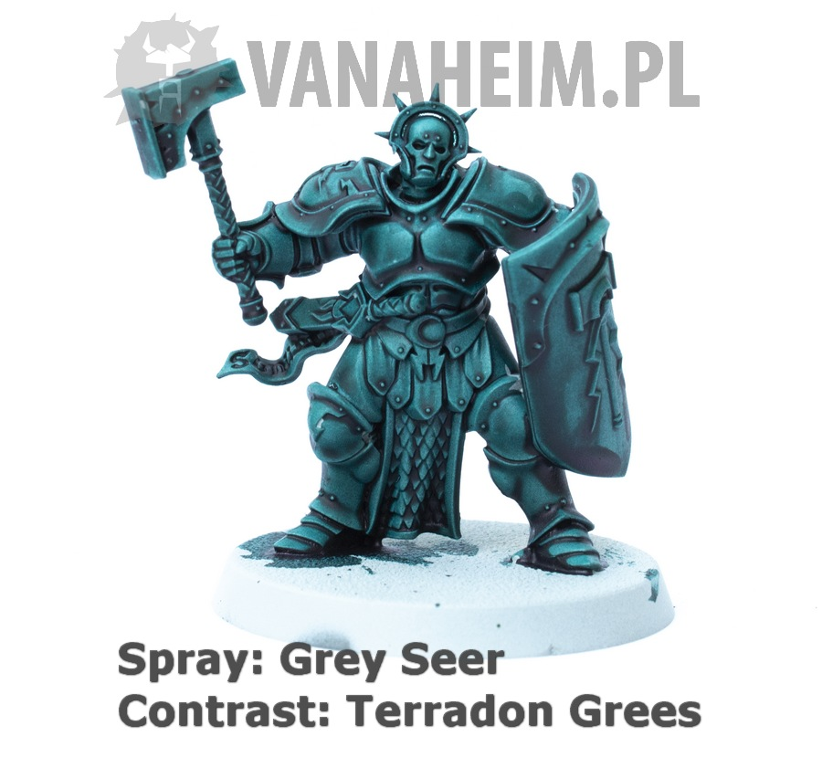 Citadel Contrast: Terradon Green on Grey Seer
