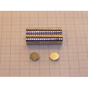 Magnes neodymowy walec 10 x 2 mm