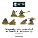 Fallschirmjager Panzerschrek, sniper and flamethrower teams (1943-45)