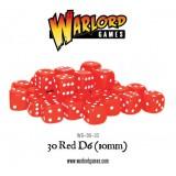Kości Warlord: 30 Red D6 (10mm)