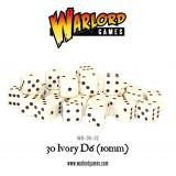 Kości Warlord: 30 Ivory D6 (10mm)