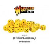 Kości Warlord: 30 Yellow D6 (10mm)